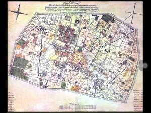 نقشه تهران در زمان قاجار
