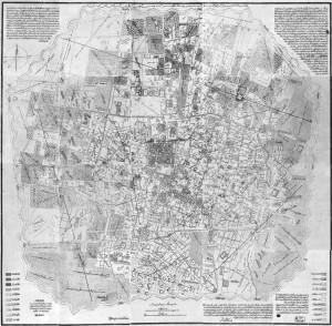 نقشه تهران در روزگار امير كبير